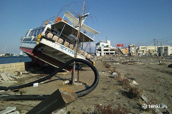 塩竃市マリンゲート付近 2011年3月19日