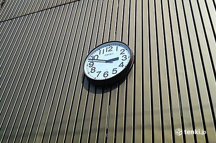 本震発生時刻で止まった時計 塩竈中央公共駐車場(解体)にて
