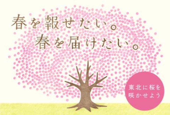 「春を報(しら)せる百円桜プロジェクト」のポスター