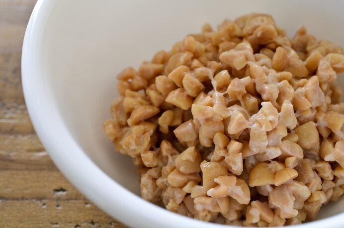 ご飯のお供、納豆をドレッシングにアレンジしてみました。