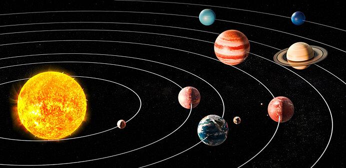 地動説(太陽中心太陽系)の模式図は見慣れたものですが万能ではありません