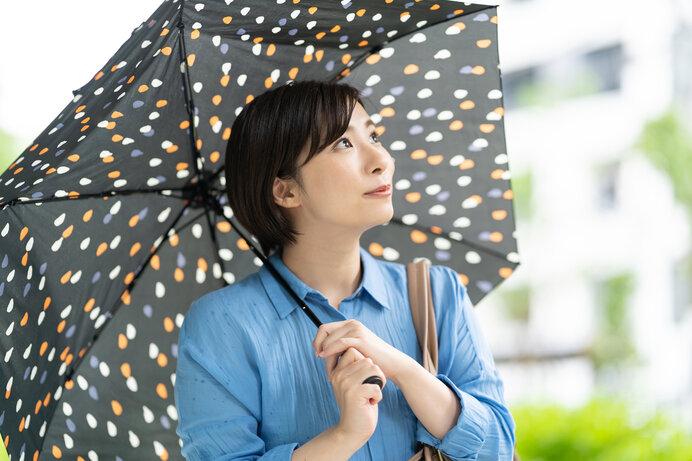 かわいいデザインの折りたたみ傘で気分もUP