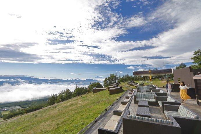 サンメドウズ清里「清里テラス」富士山を一望する標高1,900mの楽園