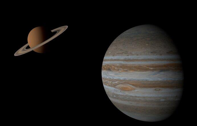 梅雨の夜空を二つの巨星が輝きを増しながら逆行へ。地球の兄弟星たち【外惑星~木星・土星編】