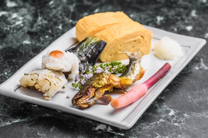 夏の味覚 鱧と鮎の塩焼き