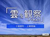 【十種雲形】雲は全部で10種類 見分け方を形や高さから解説!~上層雲編~
