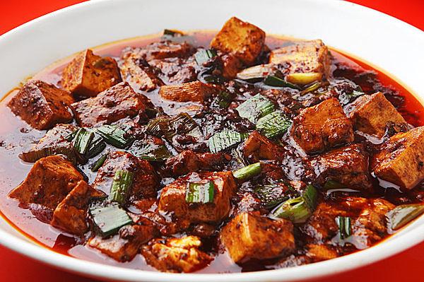 四川料理の代表、花椒を使った四川麻婆豆腐