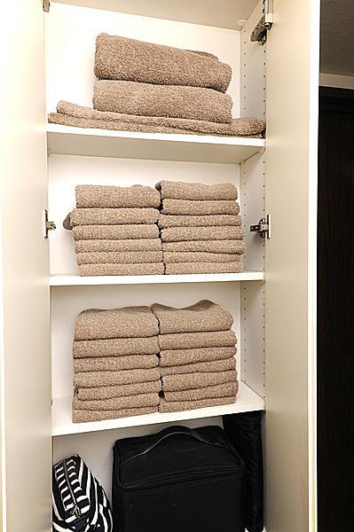 洗濯・乾燥後は下から保存し、使用時は上から!