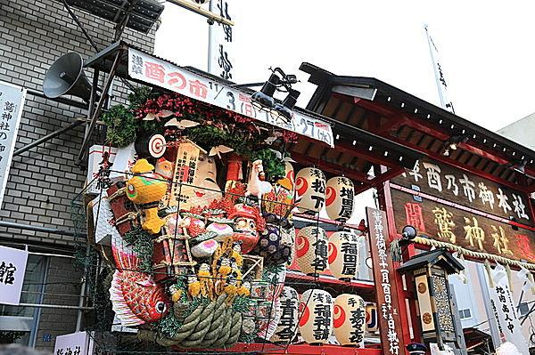 関東三大酉の市の一つ、浅草の鷲神社