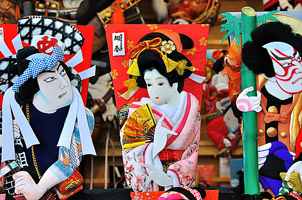 江戸時代に定番となった歌舞伎役者の羽子板